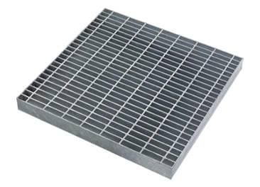 A welded aluminum steel grating on the white background.