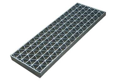A painted riveted carbon steel grating on the white background.