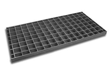 A painted carbon steel grating with smooth surface on the white background.