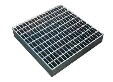 A galvanized welded carbon steel grating on the white background.