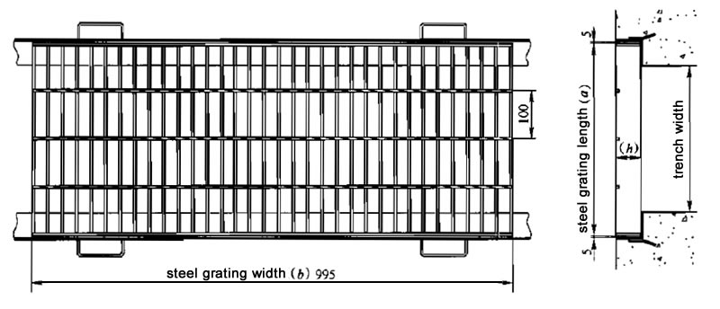 project design of steel grating trench cover