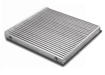 A close mesh platform and walking grating on the white background.