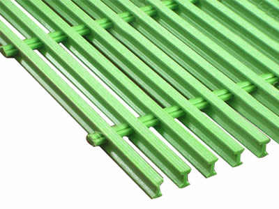 A green color transformer grating on the white background.
