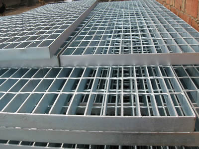 There are more than six welded steel gratings are placed on the floor.